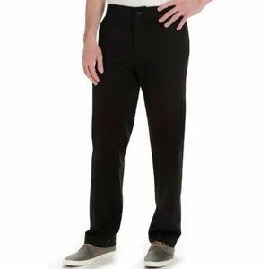 Lee X-Treme Comfort Straight Fit Black Pants 46x30